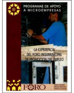 La experiencia del Foro Intermunicipal de Promoción del Empleo: Programa de apoyo a microempresas
