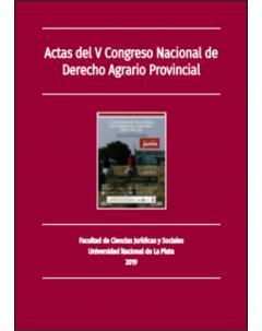 Actas del V Congreso Nacional de Derecho Agrario Provincial