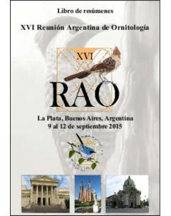 XVI Reunión Argentina de Ornitología: Libro de resúmenes