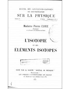 L'isotopie et les élements isotopes