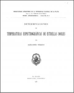 Determinaciones de temperaturas espectrográficas de estrellas dobles: Serie Astronómica - Tomo XX, no. 1