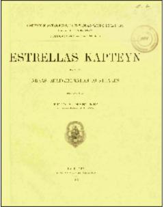 Estrellas Kapteyn para las áreas seleccionadas australes: Serie Astronómica - Tomo XI, no. 1