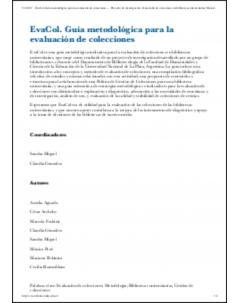 EvaCol: Guía metodológica para la evaluación de colecciones