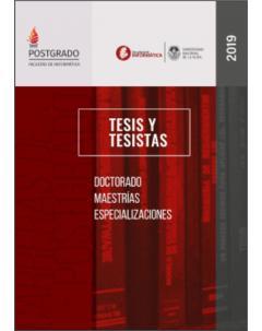 Facultad de Informática - Tesis y tesistas: Año 2019