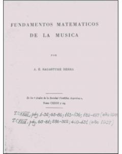Fundamentos matemáticos de la música