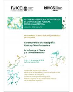 VII Congreso Nacional de Geografía de Universidades Públicas. República Argentina: Libro de resúmenes