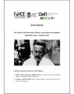 III Jornadas Walter Benjamin: resúmenes