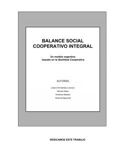 Balance Social Cooperativo Integral: Un modelo argentino basado en la identidad cooperativa