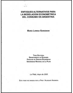 Enfoques alternativos para la modelación econométrica del consumo en Argentina
