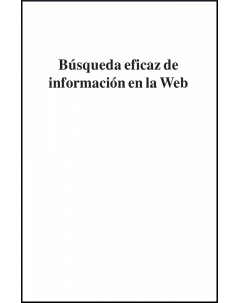 Búsqueda eficaz de información en la web