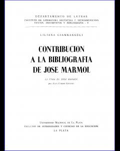 Contribución a la bibliografía de José Mármol