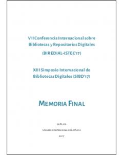 VII Conferencia Internacional BIREDIAL-ISTEC'17: Memoria final