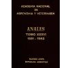 Anales tomo XXXVI 1981-1982